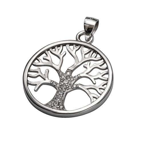 """תליון עגול """"עץ החיים """" בתוספת זירקונים"""