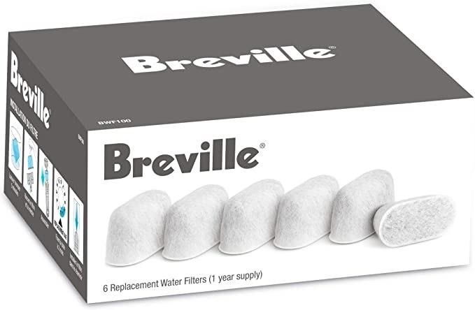 פילטר-סנן מים 6 יח' למכונות קפה מבית BREVILLE ברוויל דגם BWF100