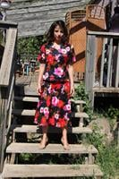 חצאית פיפטיז פרחונית מידה M/L