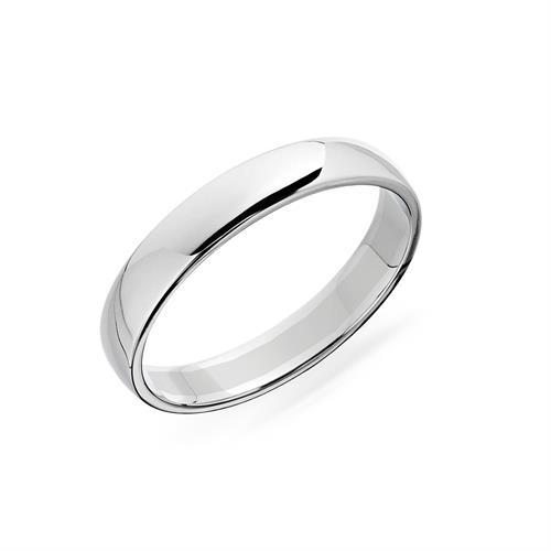 טבעת נישואין קלאסית לגבר חצי מעוגלת לגבר 4.0 ממ  -  SA99-26