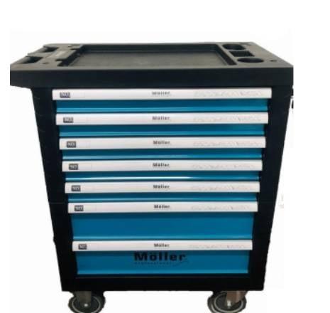 עגלת מכונאים עגלת כלים מקצועית 7 מגירות נעילה מלאה ופרטנית