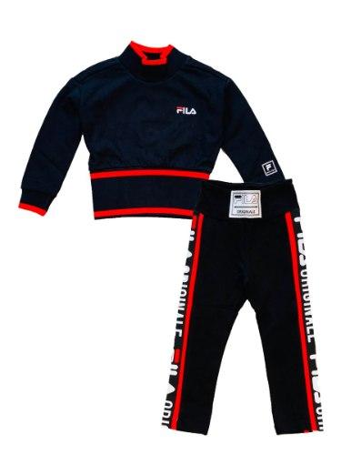 חליפת טייץ שחור ואדום FILA - מידות 2-16 שנים