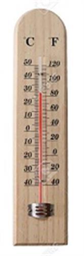 """מד חום לחדר  עץ אורן  6*26 ס""""מ  THERMOMETER"""