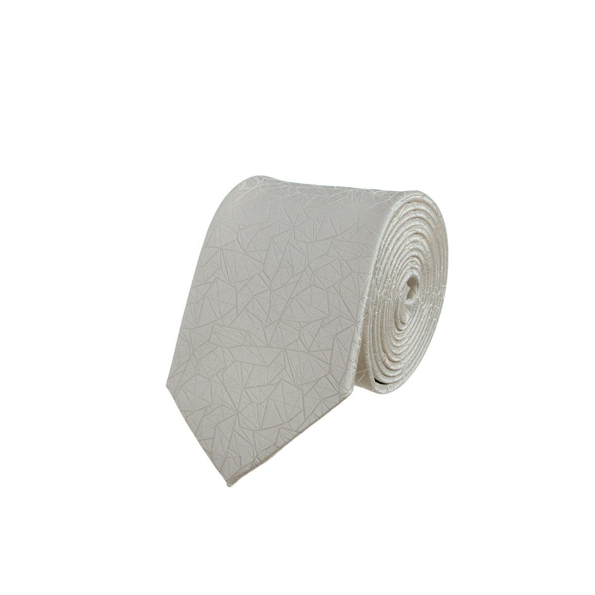 עניבת חתנים גאומטרי קרם