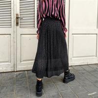 חצאית פליסה עם הדפס פוייל מוזהב