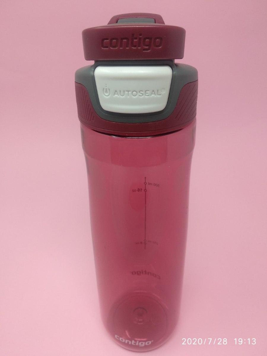 בקבוק שתיה בצבע בורדו Contigo AUTOSEAL® Chug 720ml