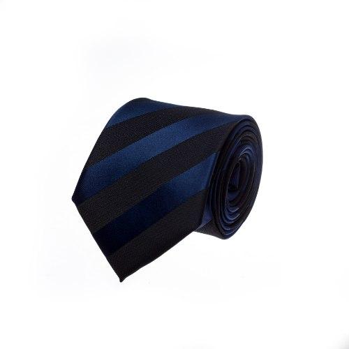 עניבה קלאסית פסים כחול