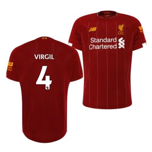 חולצת משחק ליברפול בית 19/20 - VIRGIL 4 (מידה S)