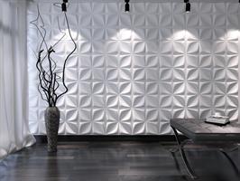 חיפויי קיר תלת מימדי דגם Aryl בגודל 50X50