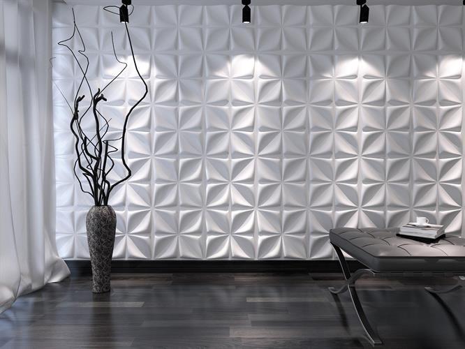 חיפויי קיר תלת מימדי דגם ''Aryl'' בגודל 50X50