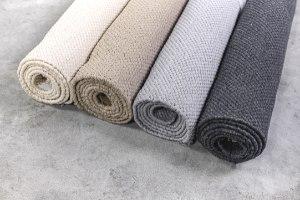 שטיח כותנה אריגה שטוחה - חול טבעי