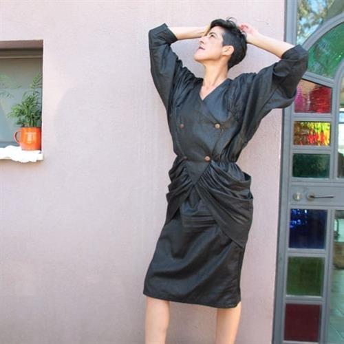 שמלת ערב הוט קוטור מהאייטיז מידה L/XL