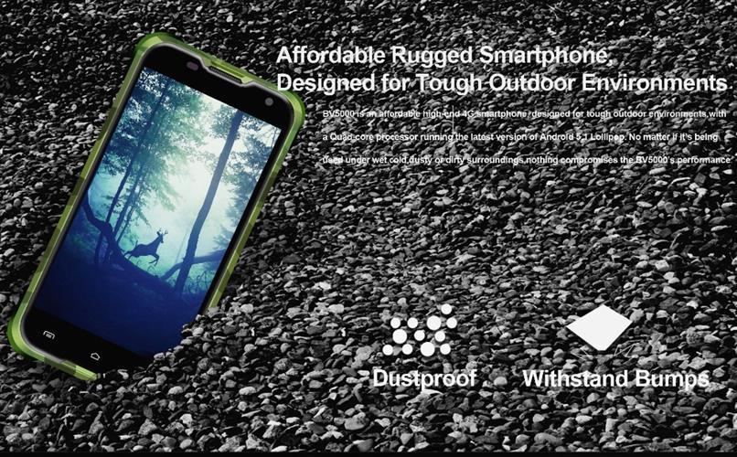 מכשיר סמארטפון Blackview BV5000 עמיד במים מעבד 4 ליבות 2GB +16GB סוללה 5000 MHA