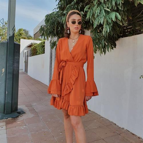 שמלת אנדראה - כתומה