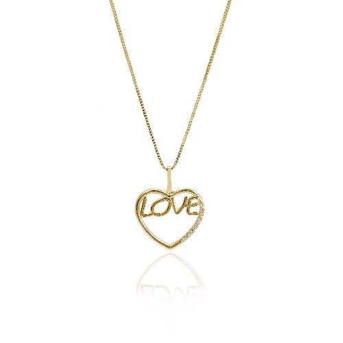 שרשרת LOVE זהב ויהלומים