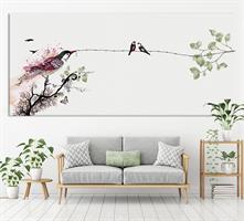 ציור ציפורים בחדר של תינוק