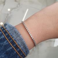 צמיד טניס יהלומים 1 קראט זהב לבן 14 קאראט