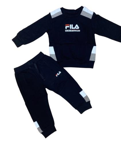 חליפת פוטר לוגו שחור/לבן/אפור FILA - מידות 6M-8Y