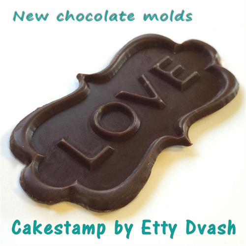 תבנית LOVE אהבה - יחידה אחת - ליצירת בשוקולד