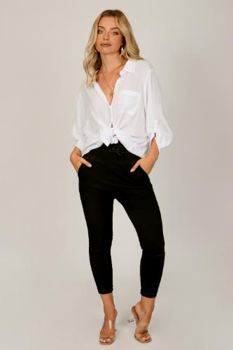 חולצת אוברסייז אמילי לבנה
