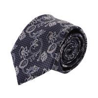 עניבה קלאסית פייזלי אפור