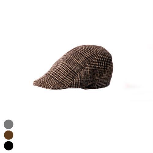 כובע קסקט אנגלי משובץ