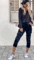 מכנס קטיפה שחור