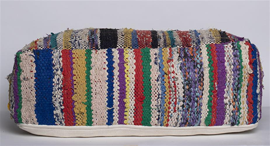 פוף שטיח פסים צבעוניים