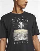 HURLEY Dri-Fit  PALMWATER  T-SHIRT-BLACK