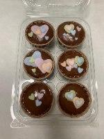 מארז מאפינס שוקולד לבבות - ללא קמח חיטה