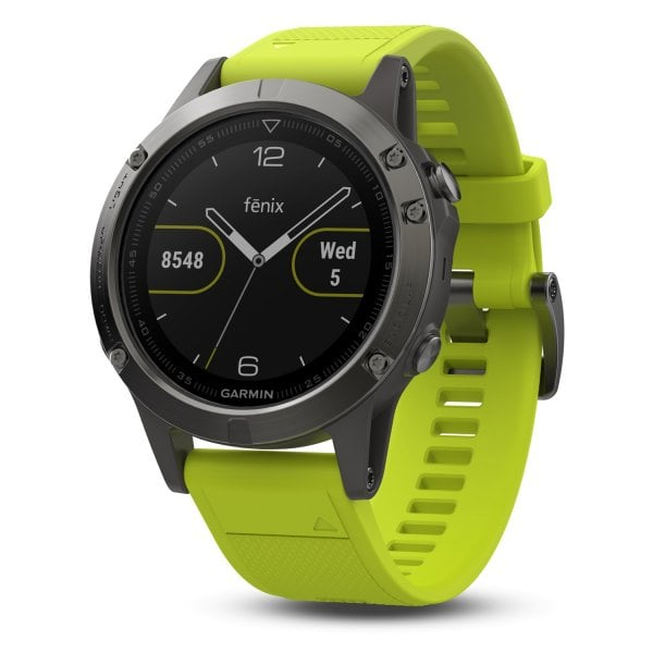 Garmin Fenix 5 Slate grey with amp yellow band