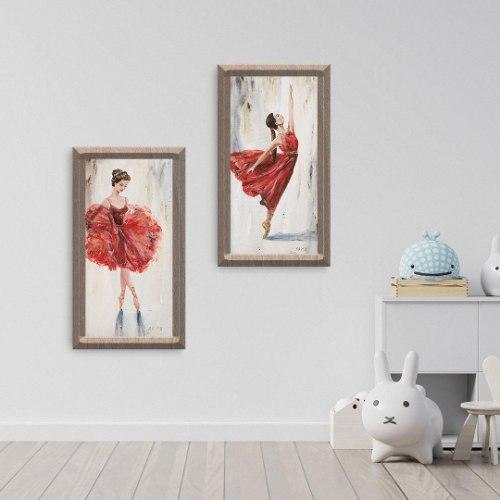 תמונות על קנבס בזוגות  - רקדניות בלט