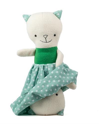 """נוגה ח""""ן (חתולה נהדרת), בובת חתולה מתהפכת ללימוד רגשות"""