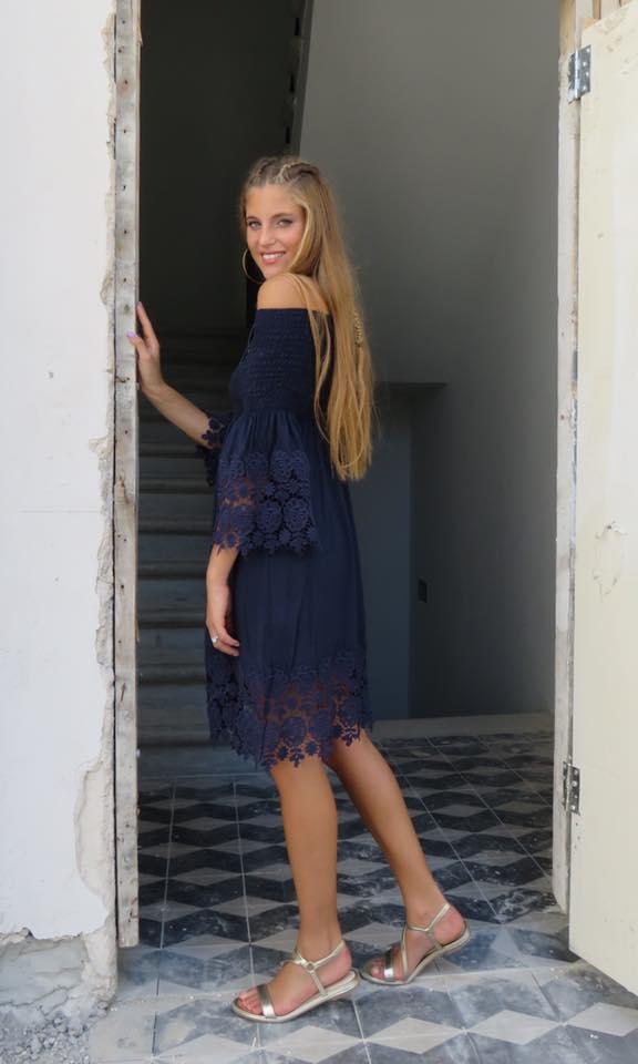 שמלת גיפיור - כחול