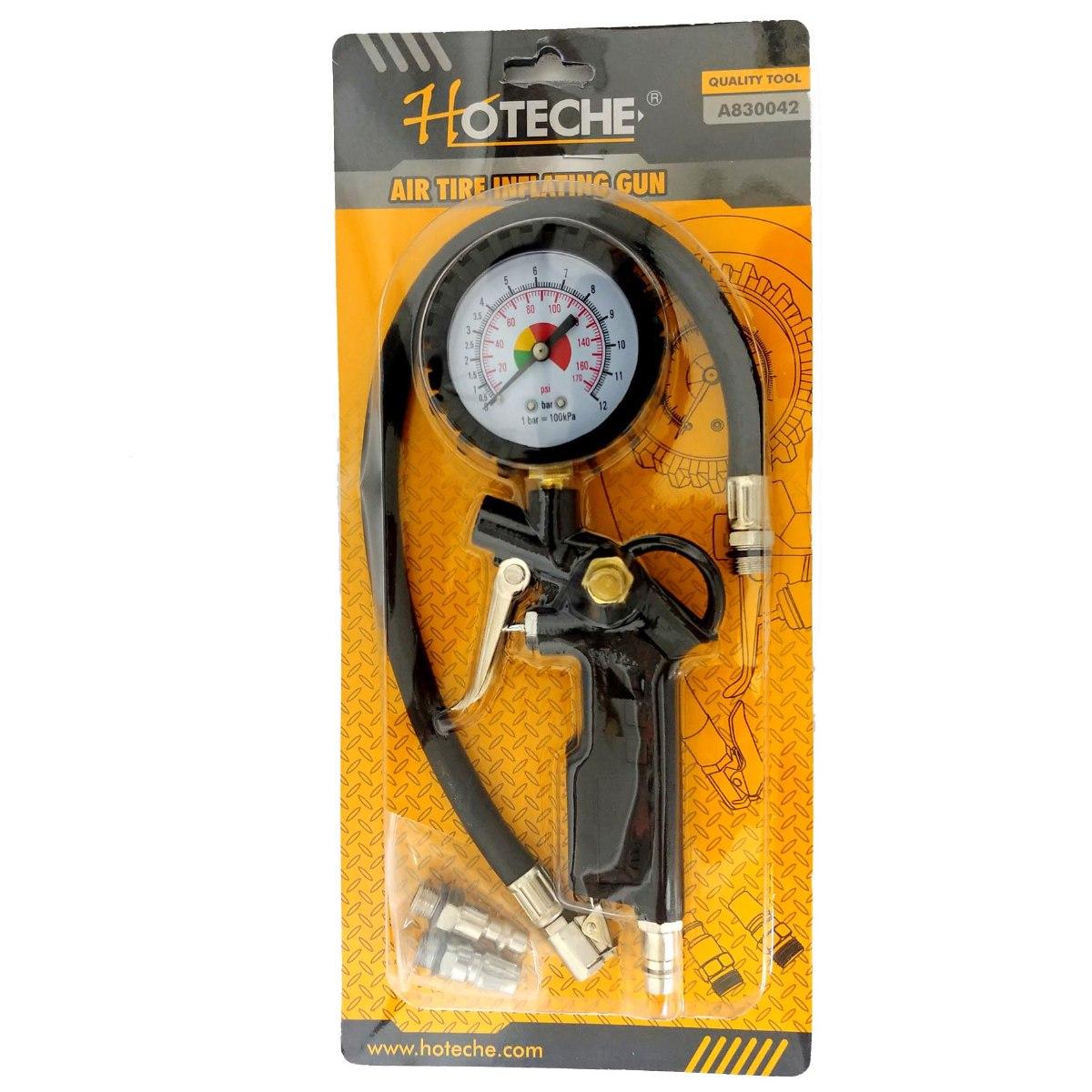 צינור ניפוח עם שעון לחץ אוויר