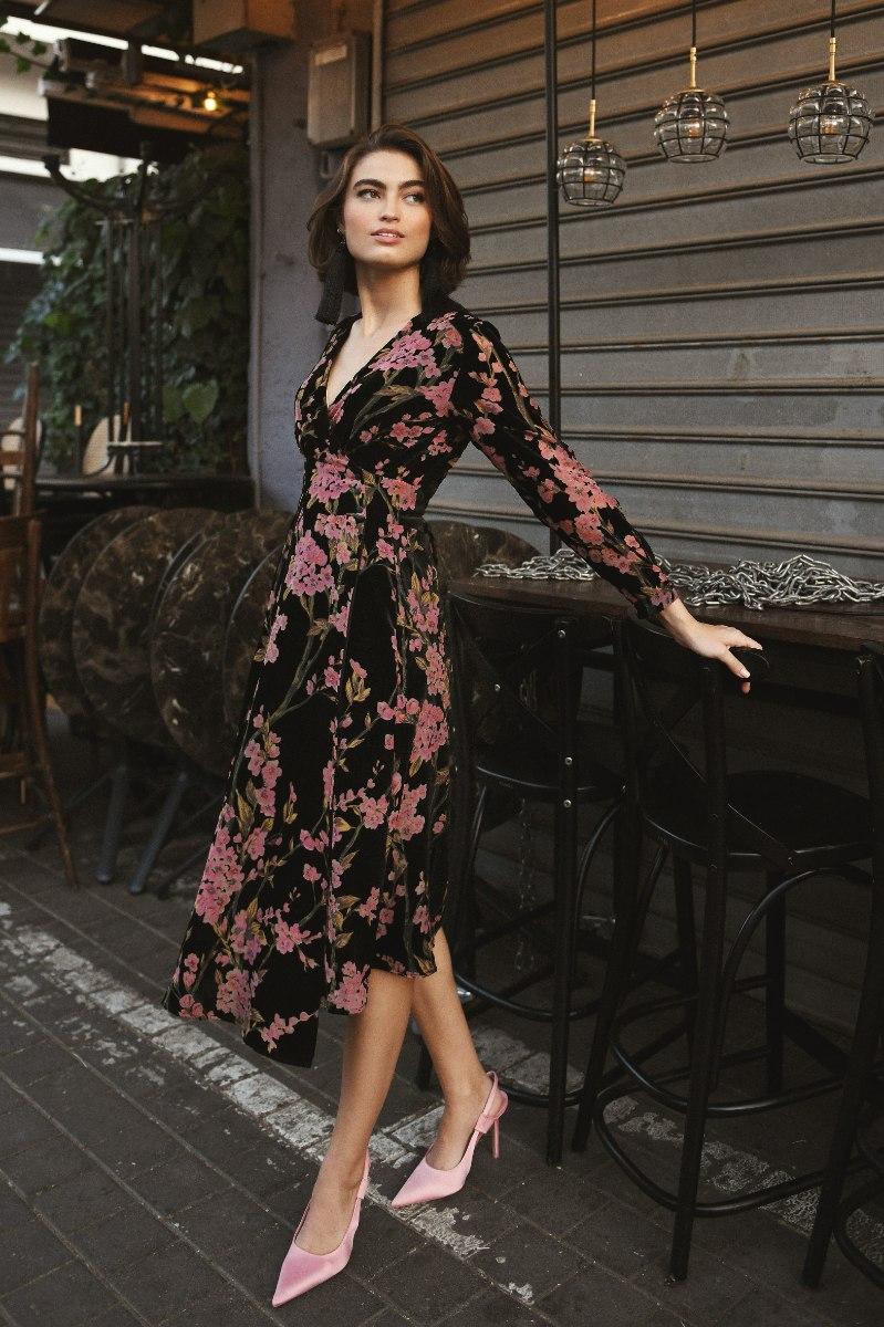 שמלה מעטפת ארוכה