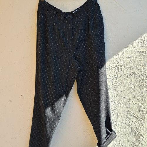 מכנסי פסים מחוייטים גזרה גבוהה XL