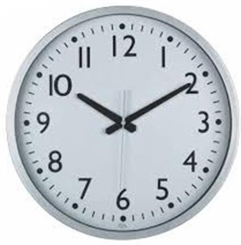 שעון קיר שקט גולף GOLF כסף