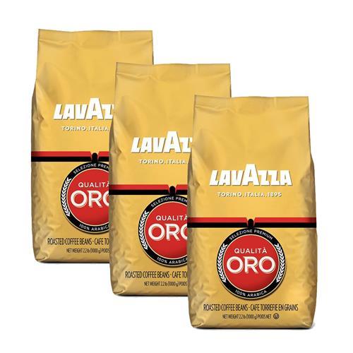 """3 ק""""ג פולי קפה לוואצה אורו Lavazza Qualita Oro"""
