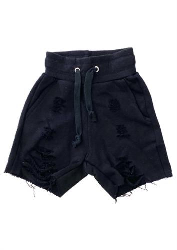 מכנס פרנץ טרי קרעים שחור