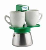 מקינטה ג'מיני,  1-2 כוסות,  Gemini Express Espresso Maker מתאים לאינדוקציה