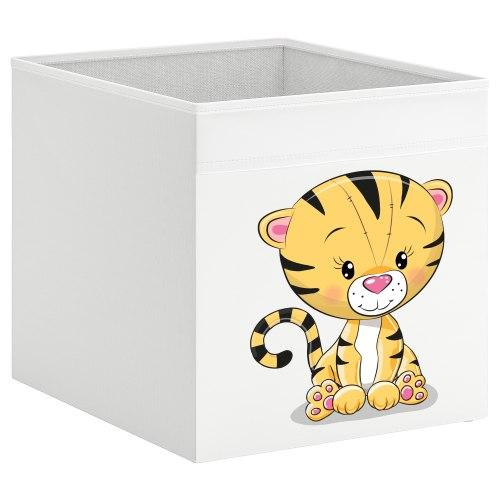 קופסת אחסון לכוורת עם הדפס- גור נמרים