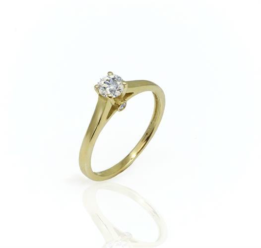 טבעת יהלום 40 נקודות בזהב 14 קאראט