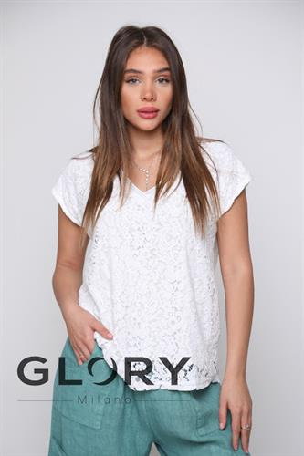 חולצת תחרה וי GLORY
