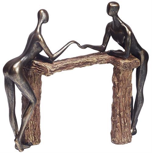 """מתנות ליום האהבה פסל """" יד ביד """""""