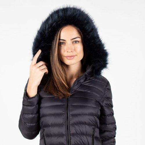 מעיל נוצות שחור