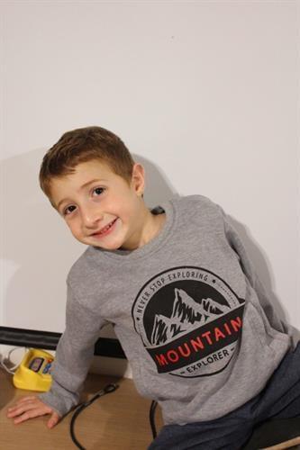 חליפת פוטר לילד - MOUNTAIN ציור של הר - מידות 2,4,6,8