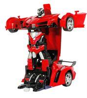 מכונית על שלט הופכת לרובוטריק
