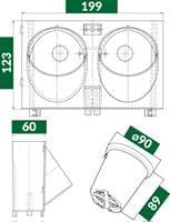 מערכת הידרו קיר ירוק מטר מרובע פיקסל גארדן 9 סמ PIXEL GARDEN
