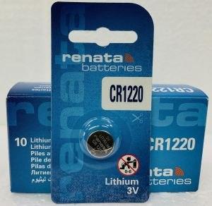 סוללות RENATA LITHIUM CR1220 ליטיום 5 יחידות